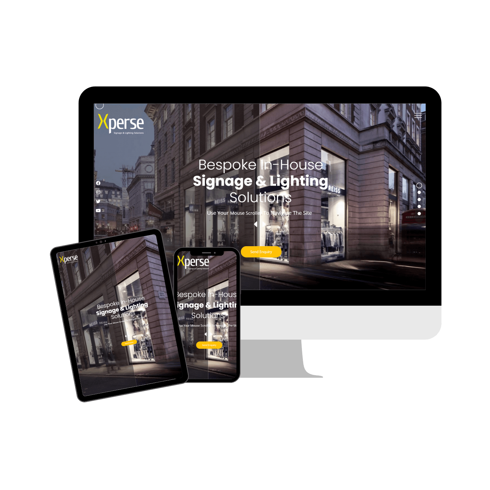 Xperse Lighting Portfolio Website